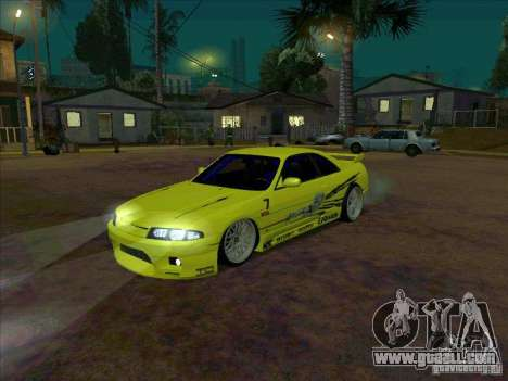 Nissan Skyline GT-R R33 from FnF 1 for GTA San Andreas