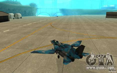 F-14 Tomcat Blue Camo Skin for GTA San Andreas right view