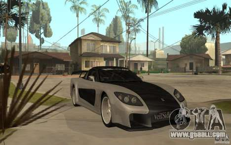 Mazda RX 7 VeilSide Fortune v.2.0 for GTA San Andreas back view