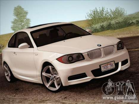 BMW 135i for GTA San Andreas side view