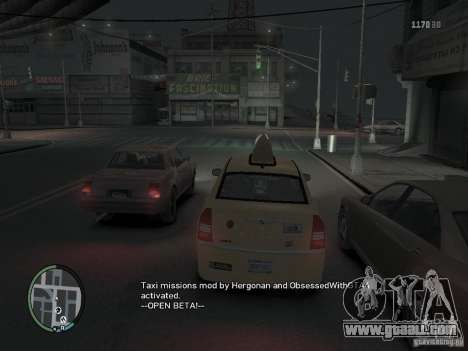 The Mission of taxi driver for GTA 4 for GTA 4