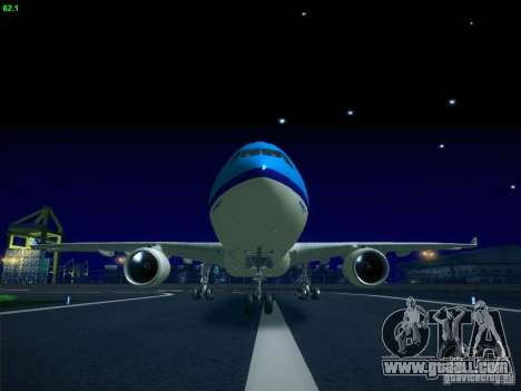 Airbus A330-200 KLM Royal Dutch Airlines for GTA San Andreas left view