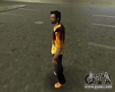 Shirt with flames for GTA Vice City second screenshot