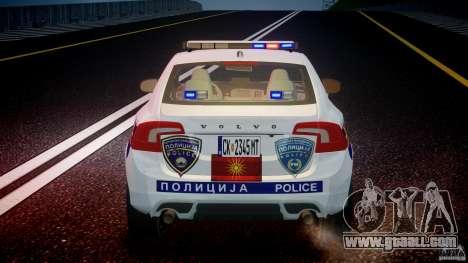 Volvo S60 Macedonian Police [ELS] for GTA 4 engine
