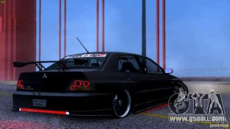 Mitsubishi Lancer Evolution 8 Drift for GTA San Andreas inner view