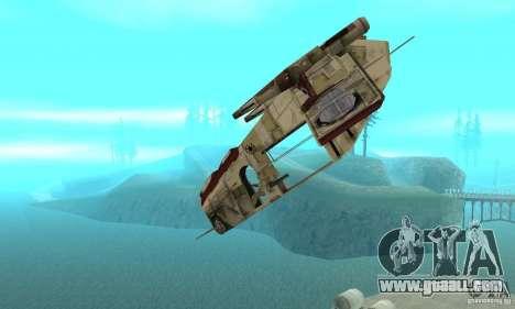 Republic Gunship from Star Wars for GTA San Andreas inner view