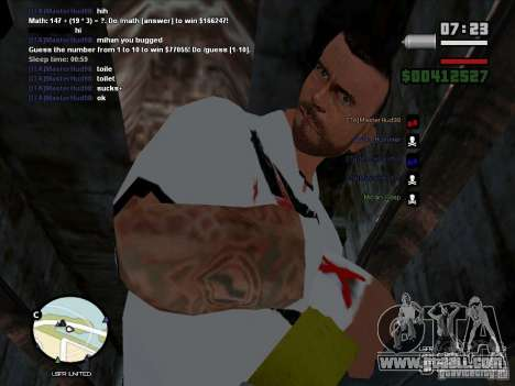 CM PUNK 2011 attaer for GTA San Andreas second screenshot