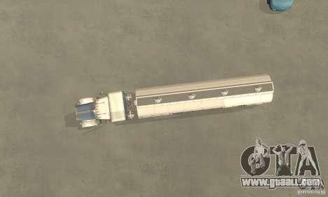 Peterbilt 379 Custom And Tanker Trailer for GTA San Andreas back view