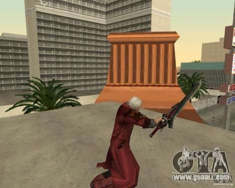 Nero sword from Devil May Cry 4 for GTA San Andreas forth screenshot