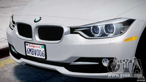 BMW 335i E30 2012 Sport Line v1.0 for GTA 4 wheels