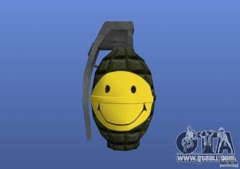 Smiley Granate for GTA 4
