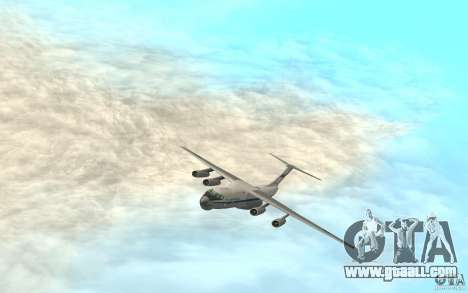 The IL-76 for GTA San Andreas back left view