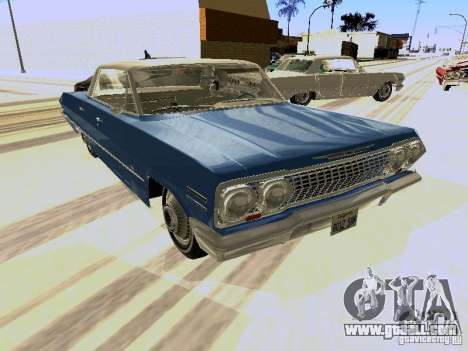 Chevrolet Impala 4 Door Hardtop 1963 for GTA San Andreas left view