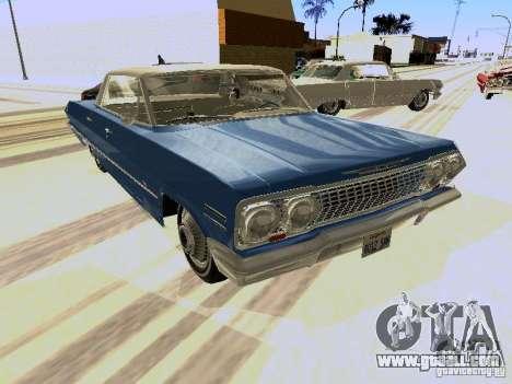 Chevrolet Impala 4 Door Hardtop 1963 for GTA San Andreas left view