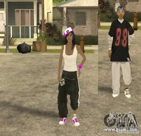 Skinpack Ballas for GTA San Andreas fifth screenshot