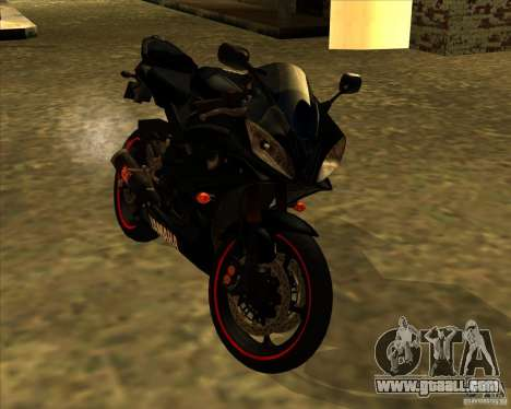 Yamaha YFZ R6 for GTA San Andreas back left view