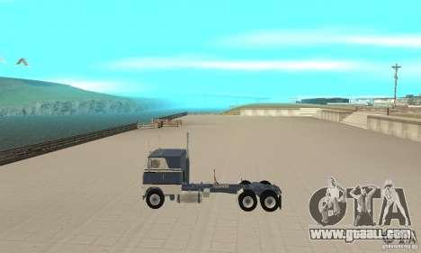 White Freightliner Extended Wheel Base for GTA San Andreas left view