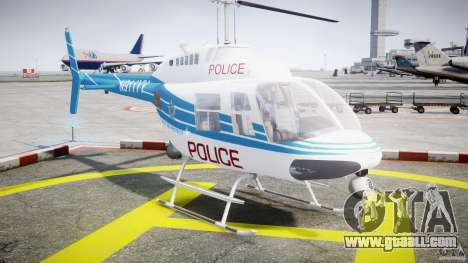 Bell 206 B - Chicago Police Helicopter for GTA 4 back view