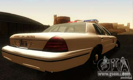 Ford Crown Victoria Utah Police for GTA San Andreas left view