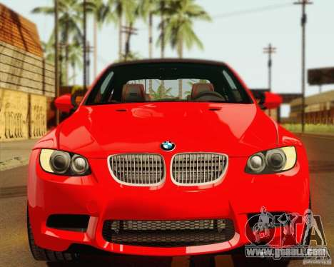 BMW M3 E92 v2.0 for GTA San Andreas inner view