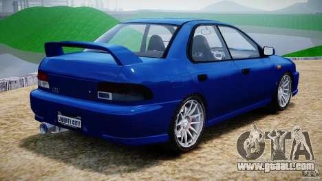 Subaru Impreza WRX STI 1999 v1.0 for GTA 4 back left view
