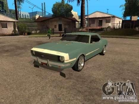 Chevrolet Camaro RS SS 396 for GTA San Andreas