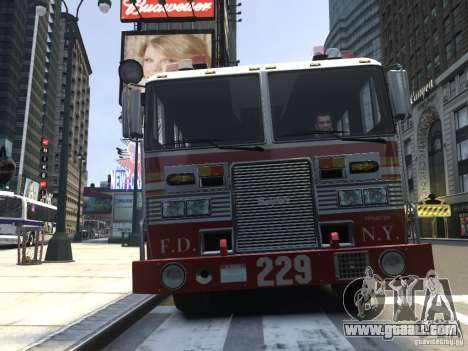 Fire Truck FDNY for GTA 4 left view
