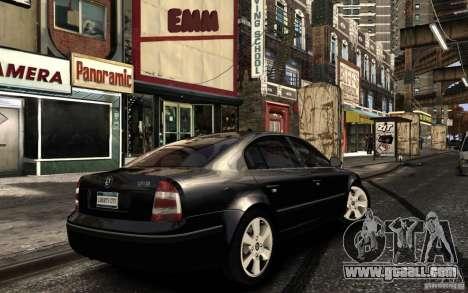 Skoda SuperB for GTA 4 upper view