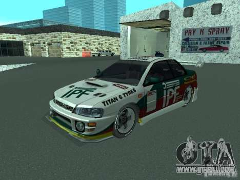 Subaru Impreza for GTA San Andreas interior