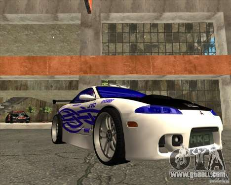 Mitsubishi Eclipse street tuning for GTA San Andreas back view