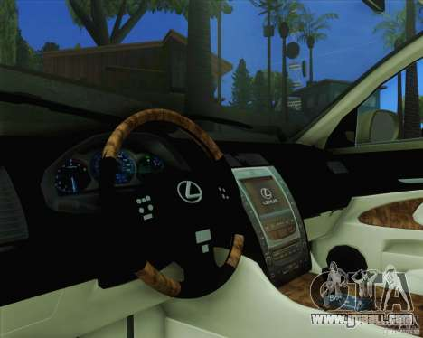 Lexus GS450h 2011 for GTA San Andreas right view