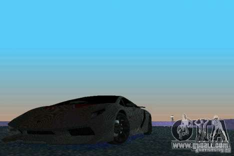 Lamborghini Sesto Elemento for GTA Vice City back view
