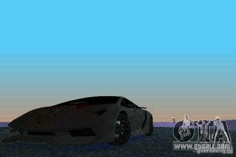 Lamborghini Sesto Elemento for GTA Vice City back view