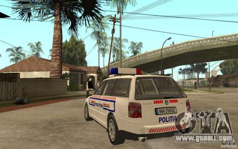 VW Passat B5+ Variant Politia Romana for GTA San Andreas back left view