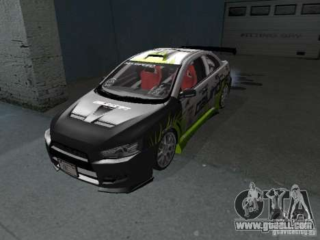 Mitsubishi Evolution X Stock-Tunable for GTA San Andreas left view