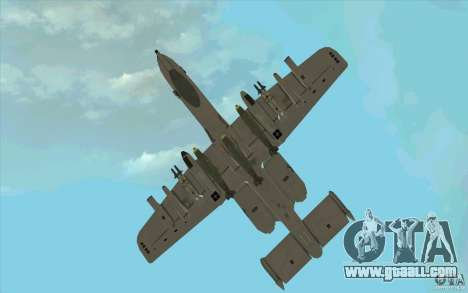 A-10 Warthog for GTA San Andreas side view