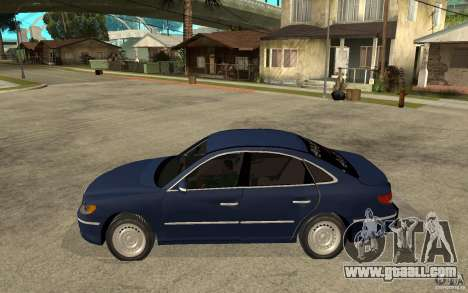 Hyundai Azera 2009 arb drift for GTA San Andreas left view