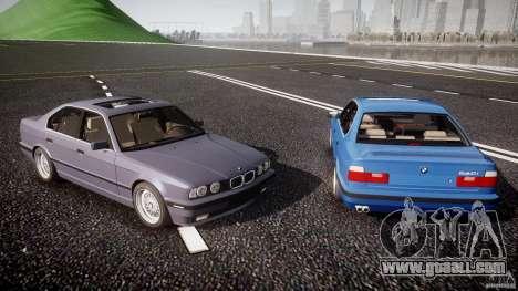 BMW 5 Series E34 540i 1994 v3.0 for GTA 4 engine