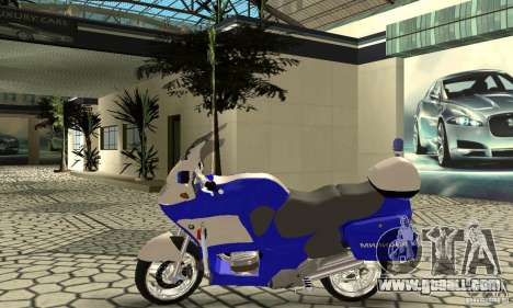 Russian police motorcycle for GTA San Andreas back left view