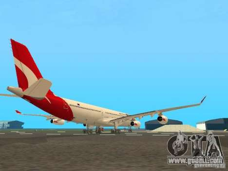 Airbus A340-300 Qantas Airlines for GTA San Andreas back view