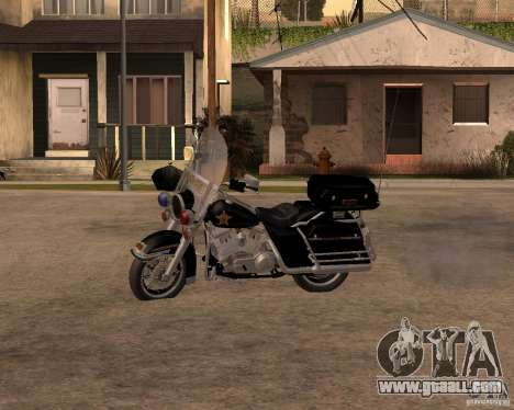 Harley Davidson Police 1997 for GTA San Andreas left view