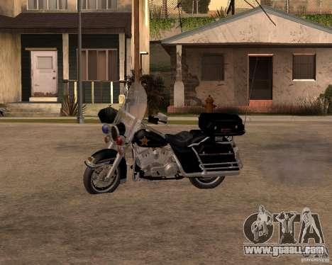 Harley Davidson Police 1997 for GTA San Andreas left view