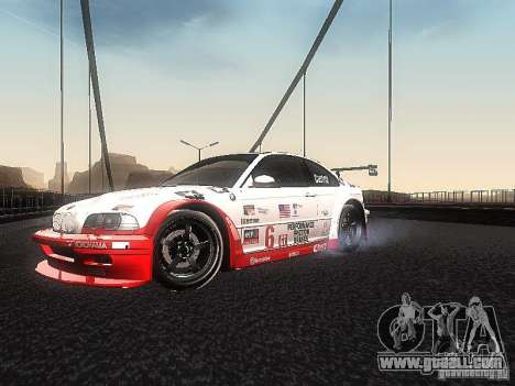 BMW M3 GTR1 for GTA San Andreas left view