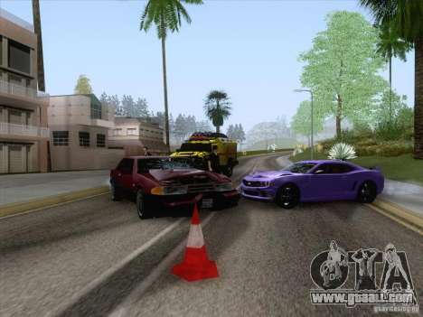 Accident on the road for GTA San Andreas forth screenshot