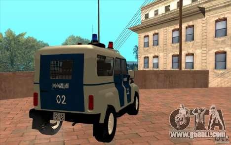 Bobik UAZ-3159 Police v. 2 for GTA San Andreas right view