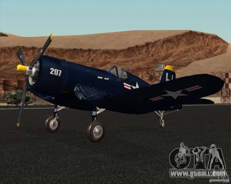 Aereo Corsair F4U1D for GTA San Andreas