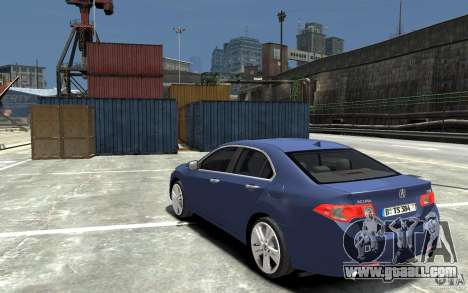 Acura TSX 2011 for GTA 4 back left view