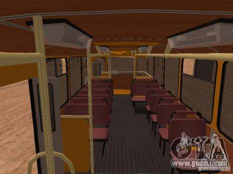 LIAZ 677 for GTA San Andreas inner view
