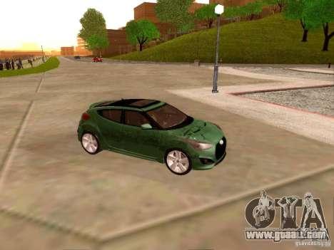 Hyundai Veloster Turbo v1.0 for GTA San Andreas inner view
