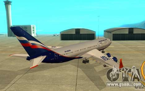 The IL-96 300 Aeroflot in new colours for GTA San Andreas right view
